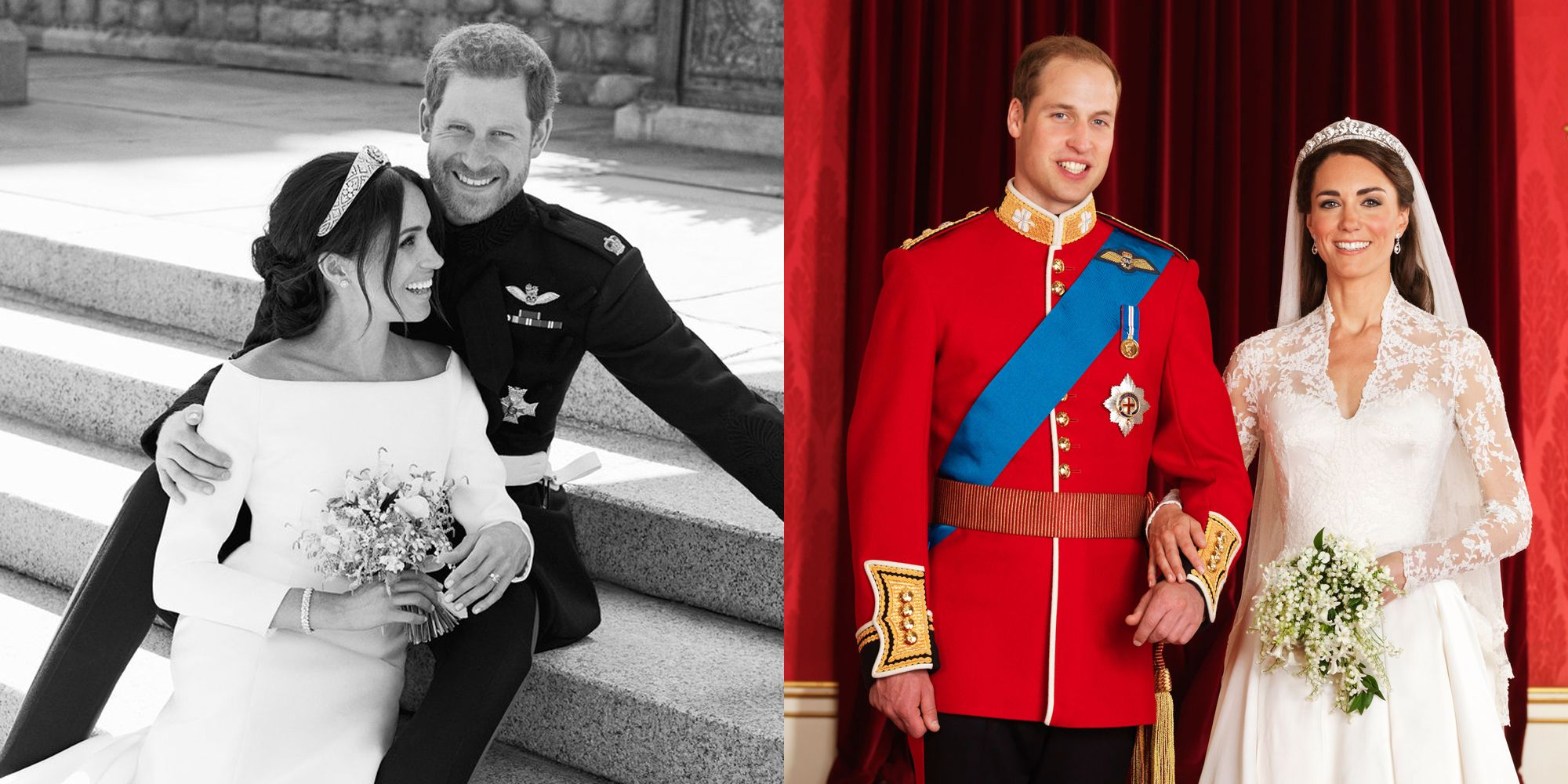 Meghan Markle And Prince Harrys Royal Wedding Portraits Compared To