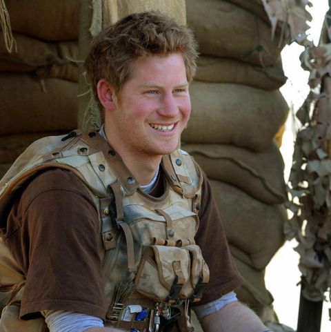 Prince Harry sits in an area of the obse