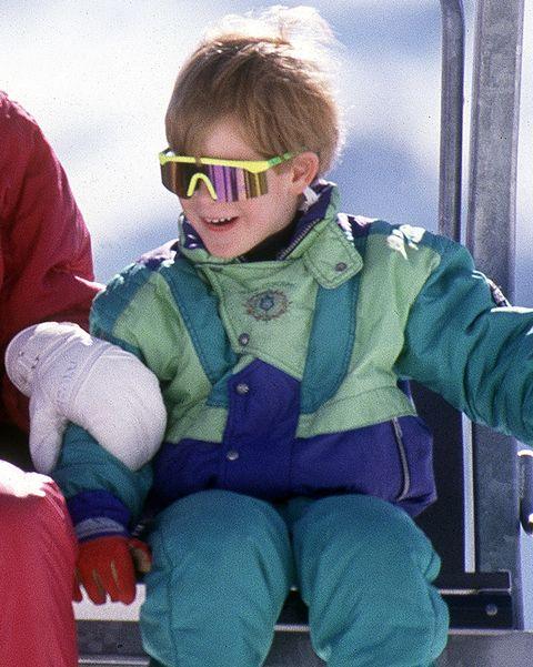 prince harry wears rainbow lens sunglasses on a skiing holiday