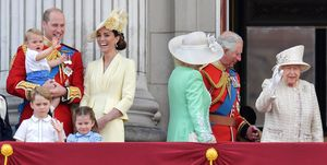 Prince Louis on the Buckingham Palace balcony