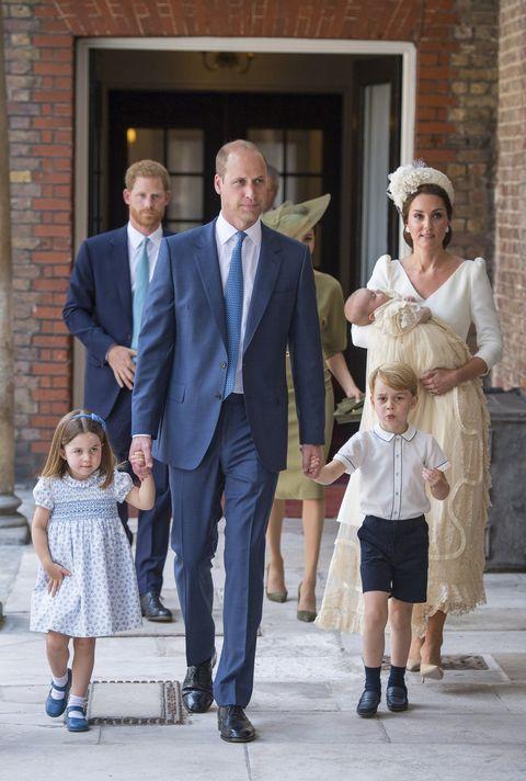 7b8671981 prince william, kate middleton, princess charlotte, prince george at prince  louis's christening
