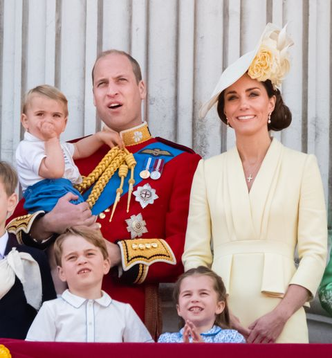 the cambridges at last year's trooping the colour 2019