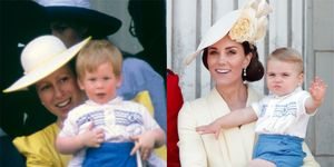 Prince Harry and Prince Louis' Trooping the Colour outfits