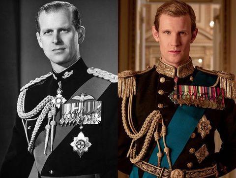 Prince Philip and Matt Smith