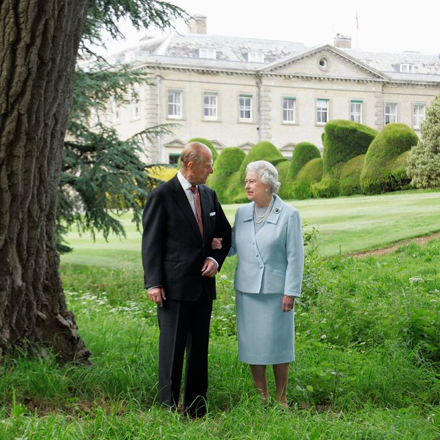 november 2007 the queen and prince philip pose for a photograph at broadlands, a country estate in hampshire, england, where they spent part of their honeymoon in 1947 the palace released the image to commemorate their diamond 60th wedding anniversary