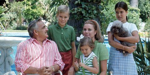 The Royal Family In A Garden