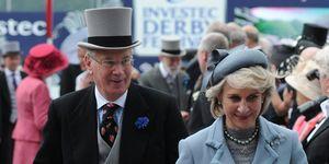 Prince Richard, Duke of Gloucester (L) a