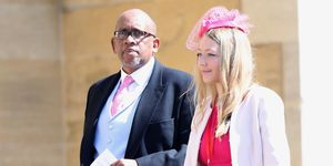Prince Seeiso of Lethoso attends Prince Harry and Meghan Markle's wedding.