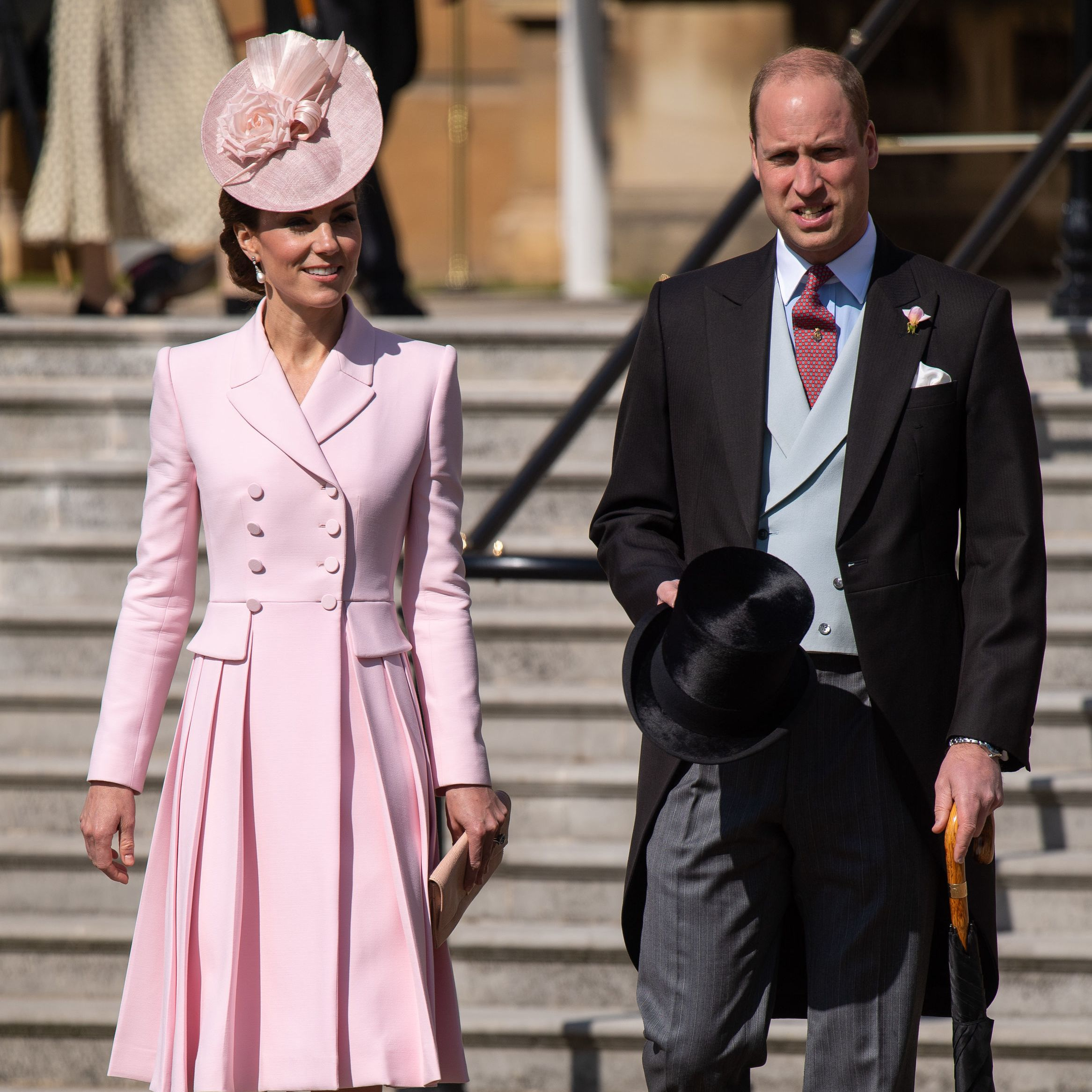 The Duchess of Cambridge looks pretty in pink at the Queen's garden party