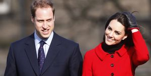 Prince William (L) and his fiancee Kate