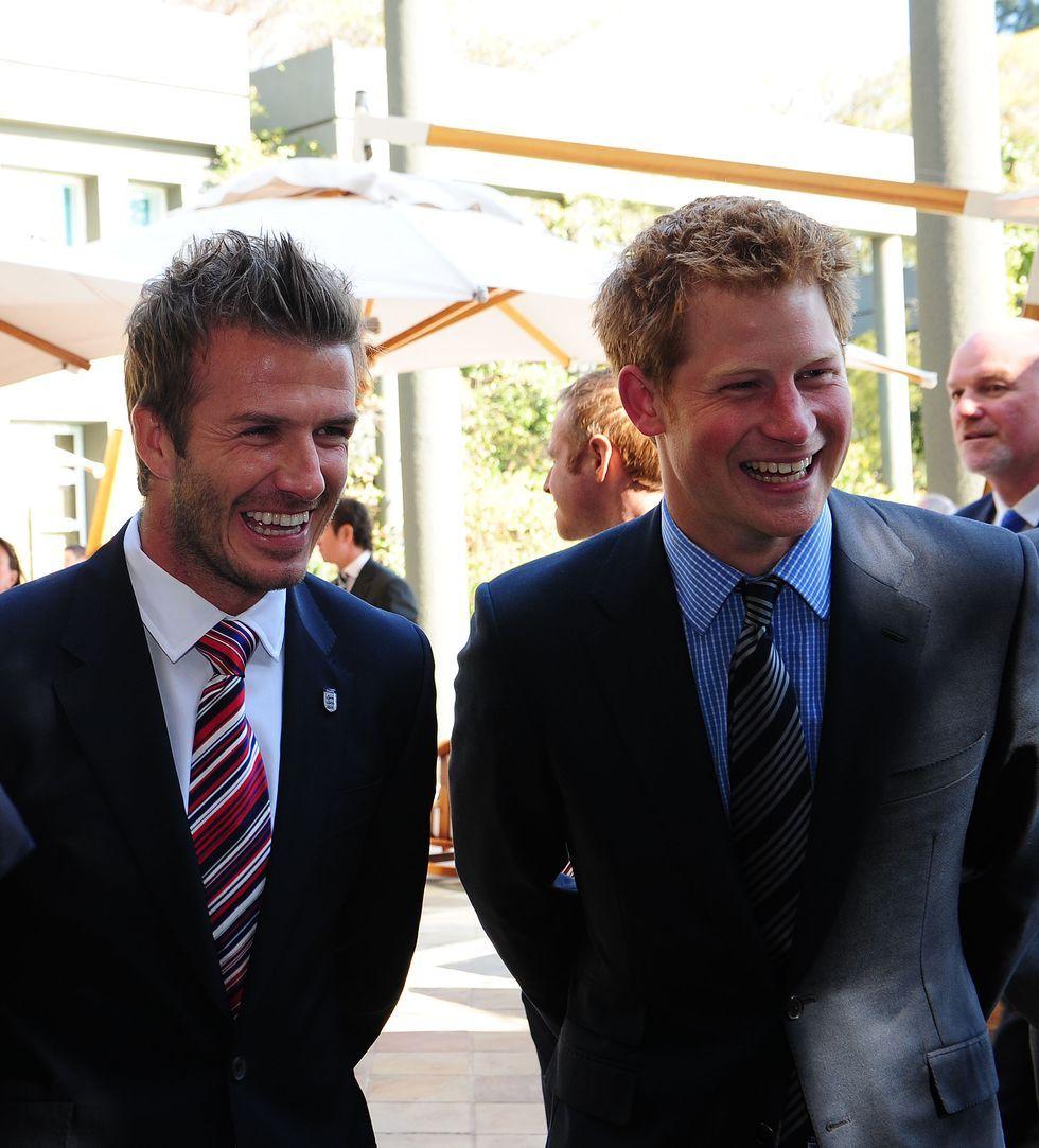 "David Beckham calls Prince Harry an ""amazing"" father"
