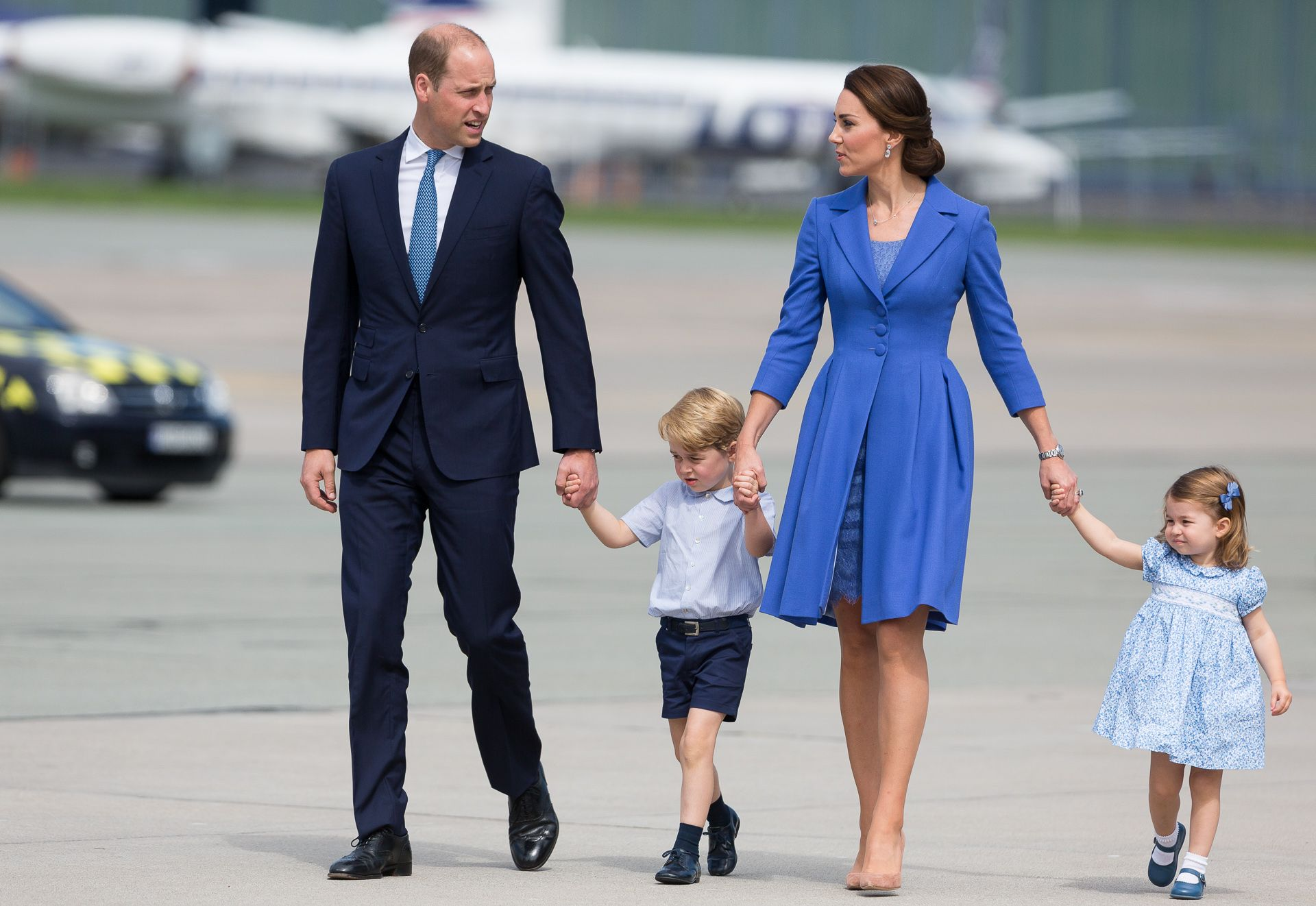 The Duke and Duchess of Cambridge take their children on holiday to visit the Queen in Balmoral