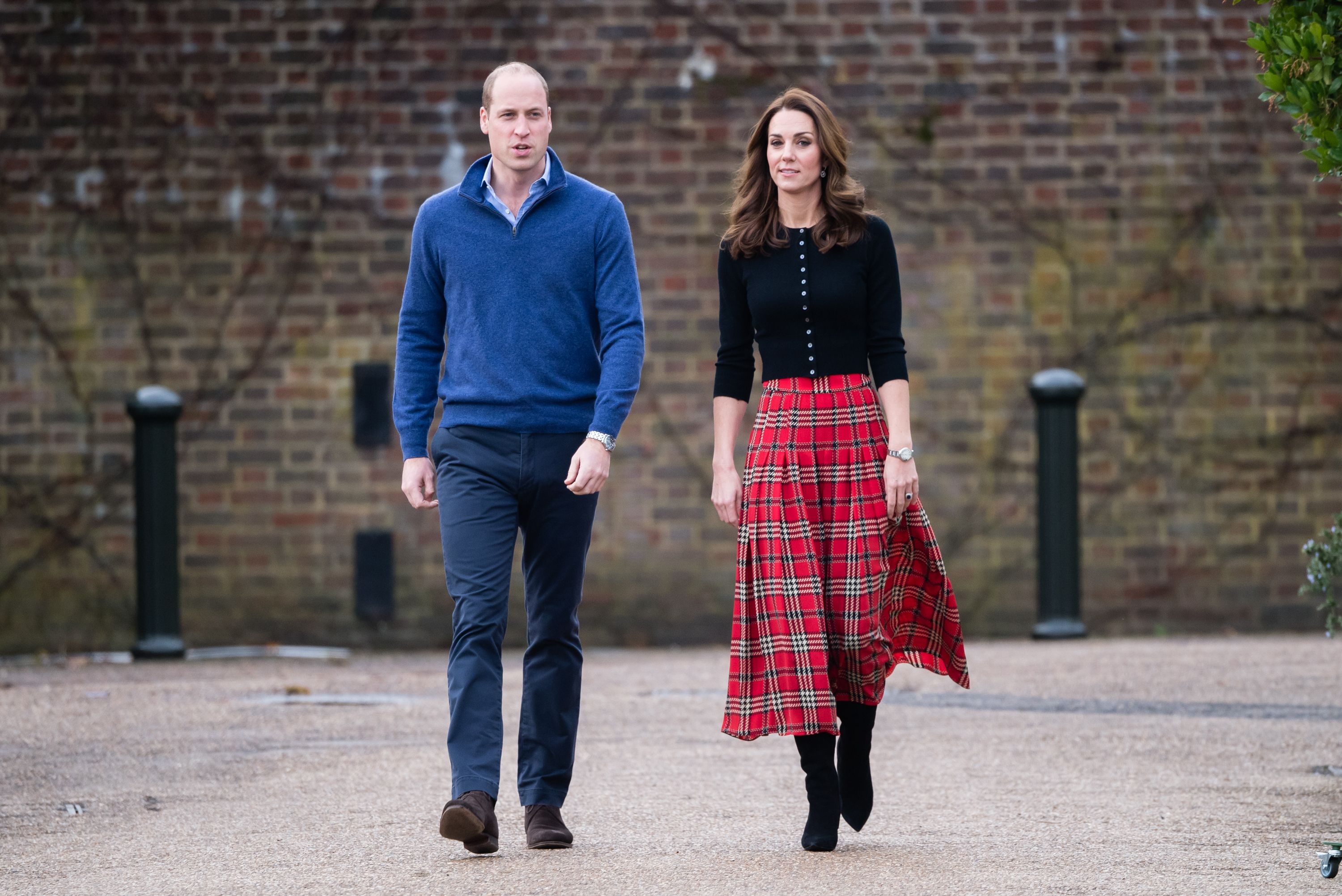 856a10bb2 The Duchess of Cambridge looks festive in tartan at Christmas party for  military families