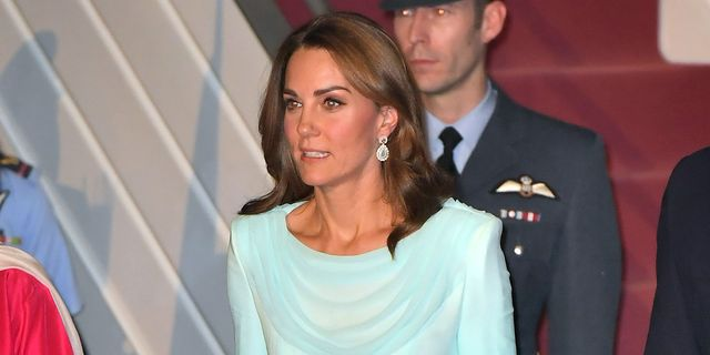 Kate Middleton Wears a Blue Ombre Dress as She Arrives in Pakistan for Royal Tour