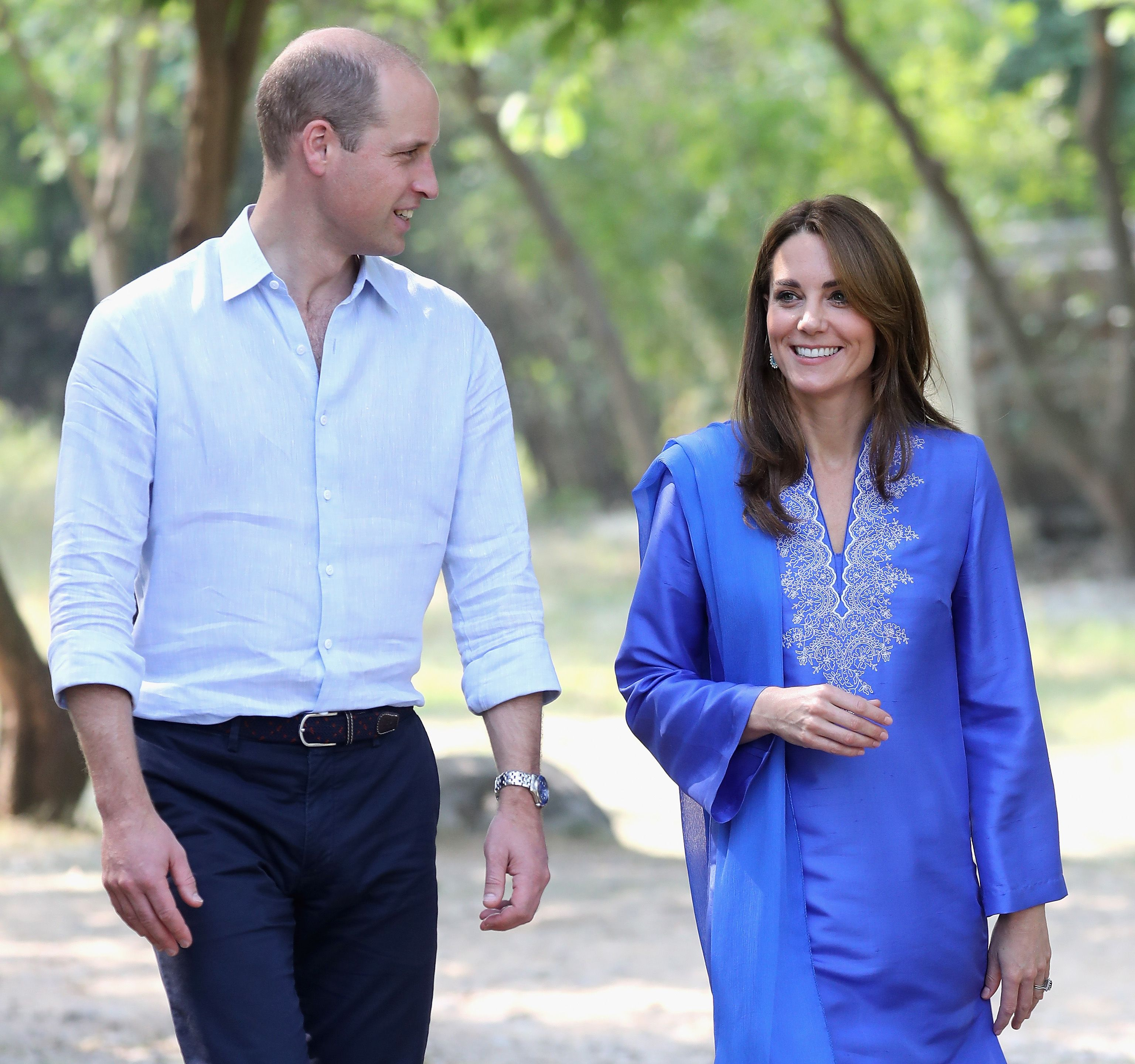 Kate Middleton Steps Out in a Periwinkle Blue Kurta on Her Second Day in Pakistan