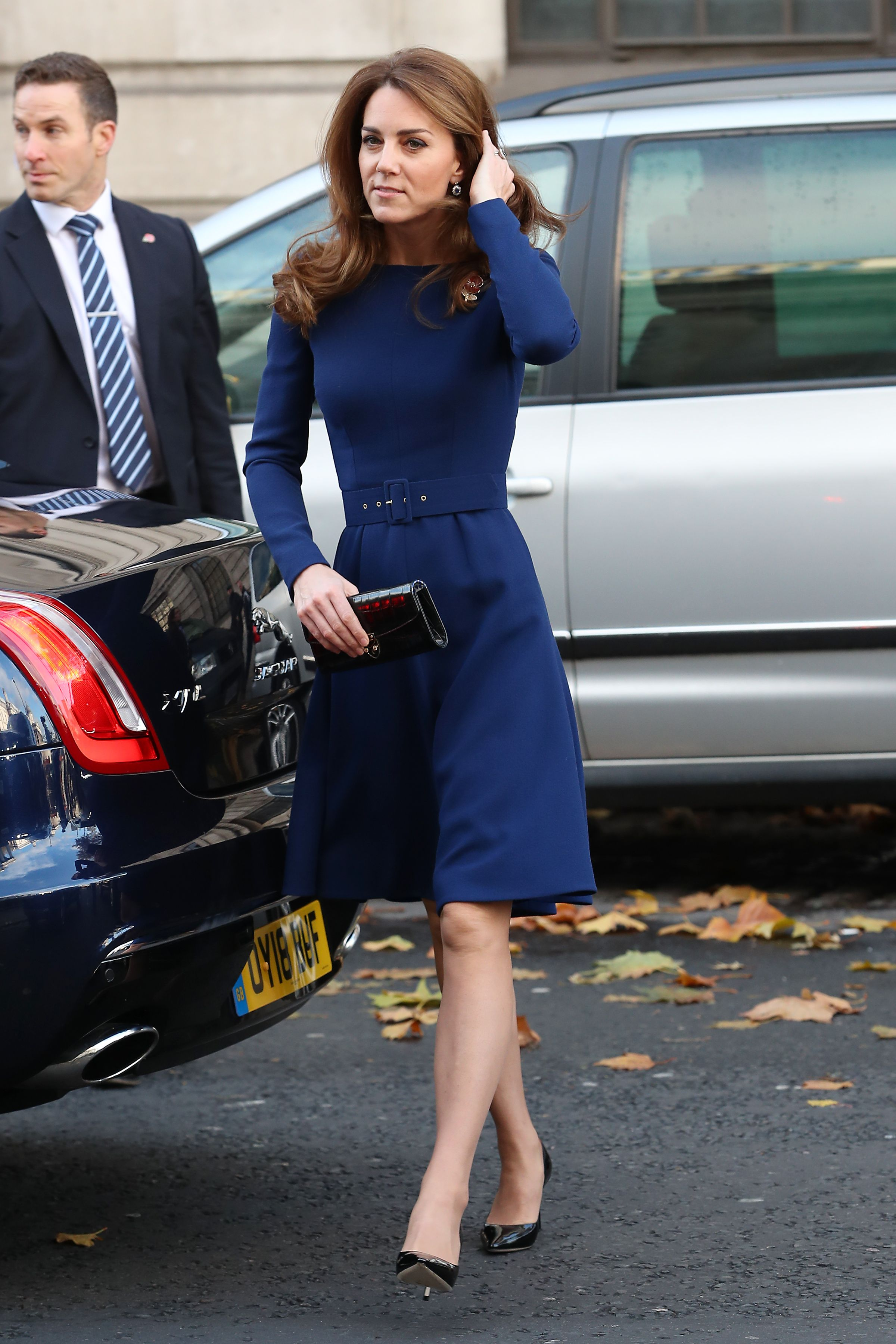 Kate Middleton Steps Out in a Royal Blue Dress for the Launch of the National Emergencies Trust