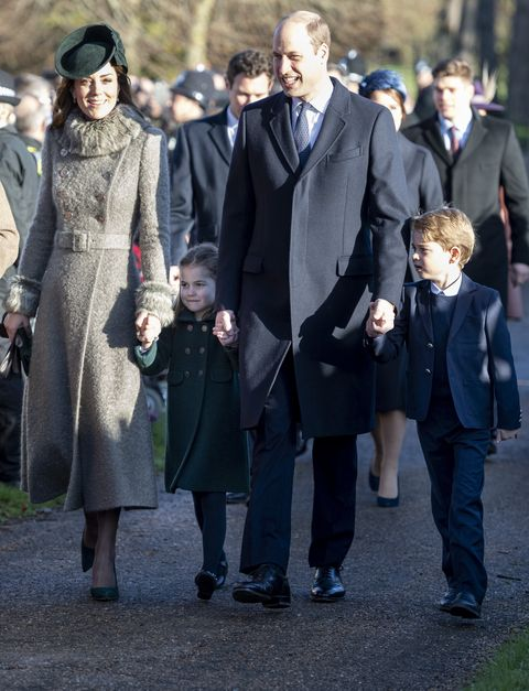 クリスマス礼拝、2019年、キャサリン妃、ウィリア王子、シャーロット王女、ジョージ王子