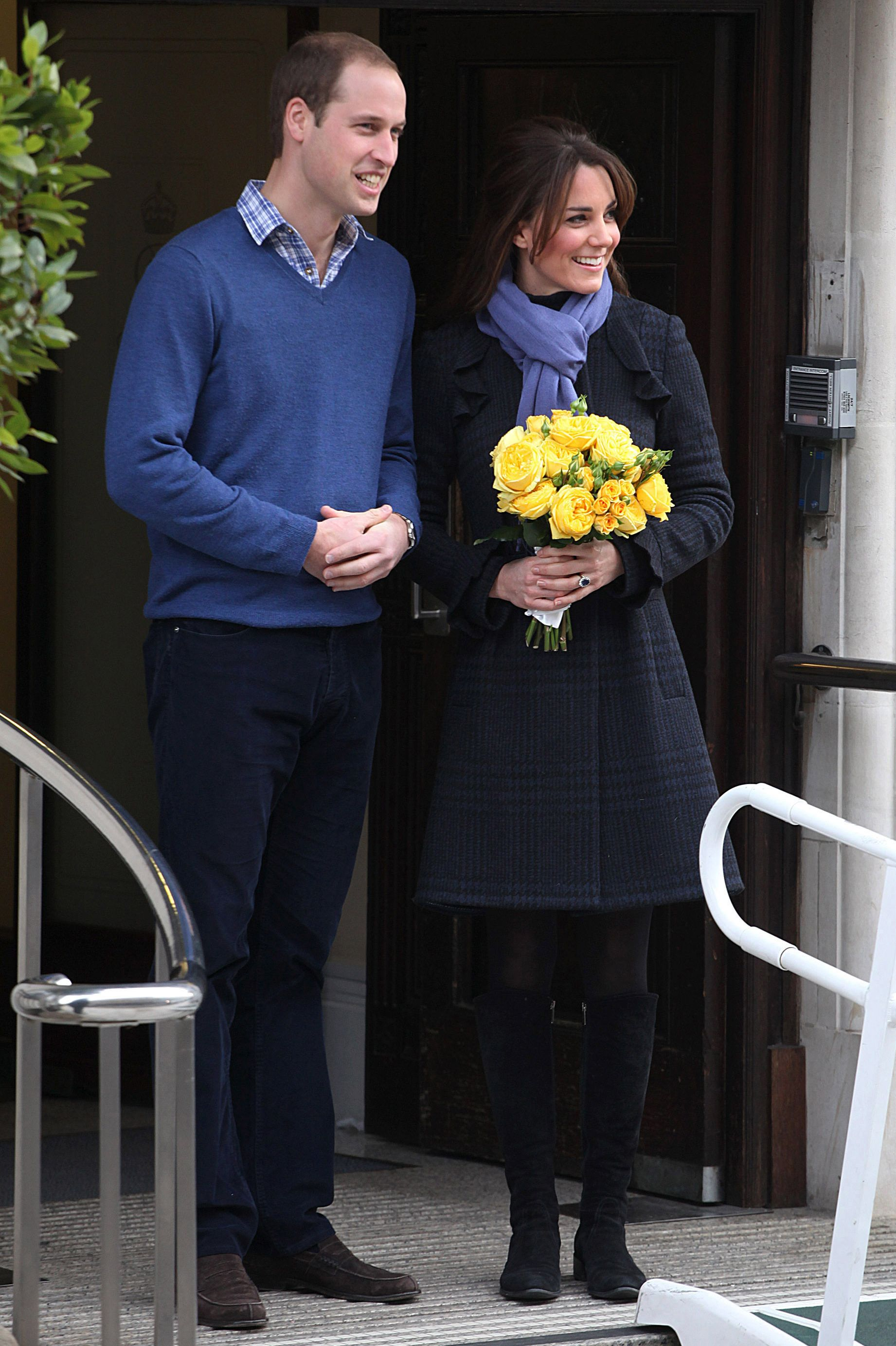 Duchess Of Cambridge Leaves The King Edwards VII Hospital