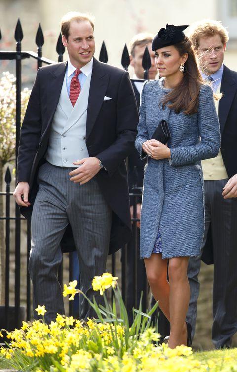 ルーシー・ミードとチャーリー・バジェットの結婚式に出席したキャサリン妃とウィリアム王子
