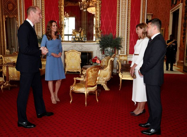 ukrainian president volodymyr zelensky and his wife pay official visit to uk