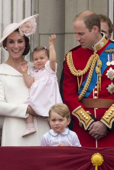 princess charlotte prince george kate middleton prince william trooping the colour balcony