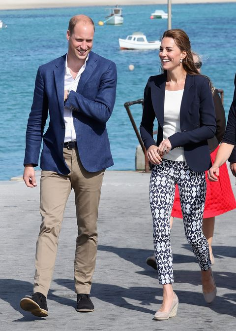 Kate Middleton print trousers
