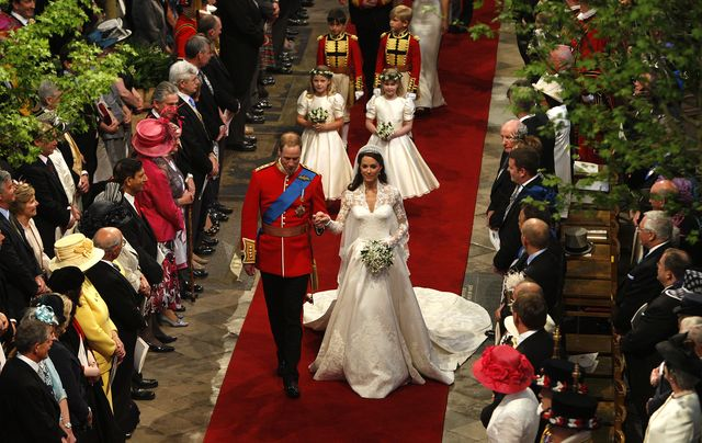 the royal wedding ceremony takes place inside westminster abbey