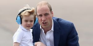 Prince William and Prince George at The Royal International Air Tattoo