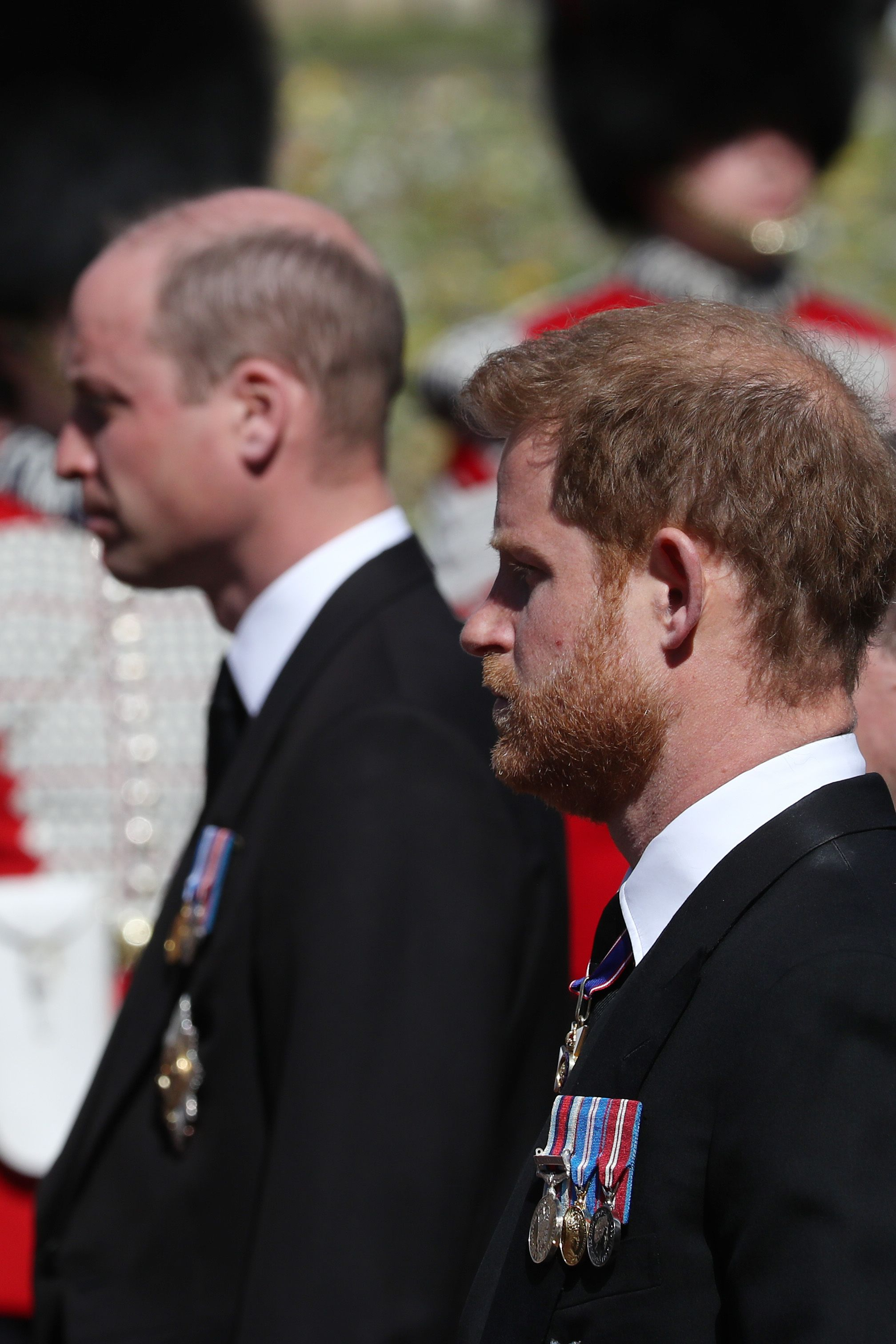 Prince Harry Reunites with Prince William and Kate Middleton Following Prince Philip's Funeral