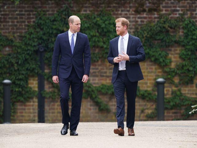 ウィリアム王子とヘンリー王子は7月1日、ロンドンのケンジントン宮殿に設置された故ダイアナ元妃の記念像の除幕式を行った。現在は王室を離れ、メーガン妃&子どもたちともにカリフォルニア州で暮らすヘンリー王子がウィリアム王子と顔を合わせるのは、祖父フィリップ殿下の葬儀が行われた今年4月以来。