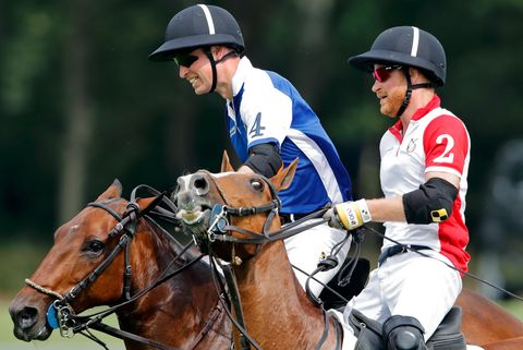the duke of cambridge and the duke of sussex take part in the king power royal charity polo day