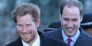 Prins William en Prins Harry tijdens Kerst op Sandringham