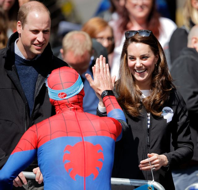 the duke and duchess of cambridge and prince harry attend the virgin money london marathon