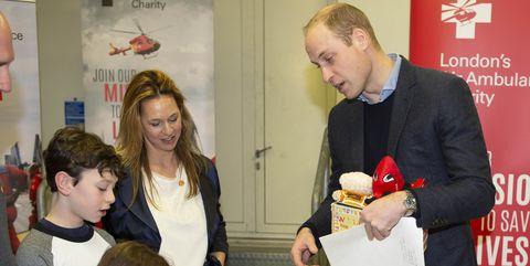 The Duke Of Cambridge Visits London's Air Ambulance Charity