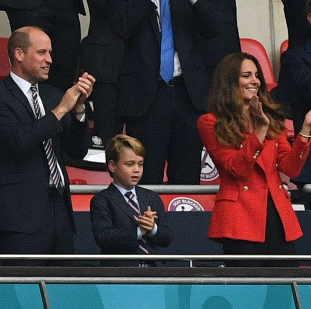 duke duchess cambridge prince george football