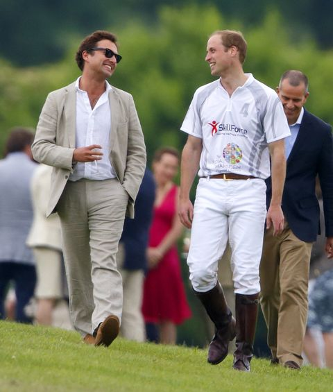the duke of cambridge with thomas van straubenzee after a polo match in 2014   all of the royal family's best and closest friends
