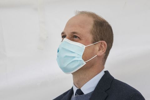 sutton, greater london   october 21  prince william, duke of cambridge speaks to staff and patients to mark the construction of the groundbreaking oak cancer centre at royal marsden hospital on october 21, 2020 in sutton, greater london photo by jack hill    wpa poolgetty images