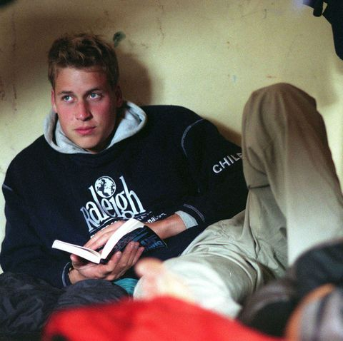 Prince William Relaxing With A Book
