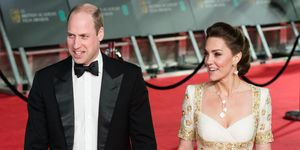 prince william and kate middleton at the 2020 bafta awards