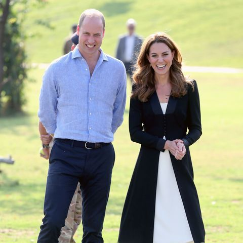 islamabad, pakistan   october 18  prince william, duke of cambridge and catherine, duchess of cambridge smile as they visit an army canine centre, where the uk provides support to a programme that trains dogs to identify explosive devices, during day five of their royal tour of pakistan on october 18, 2019 in islamabad, pakistan photo by chris jackson   poolgetty images