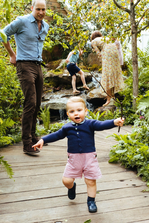 prince louis prince william walking garden chelsea flower show