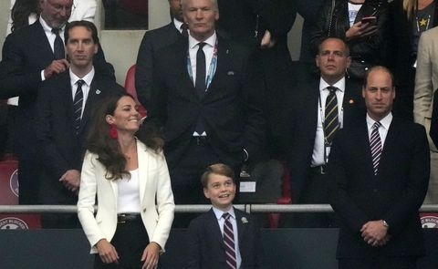 kate middleton and prince george at the italy v england uefa euro 2020 final