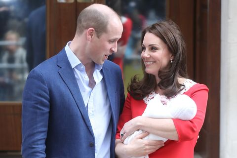 Prince William was overheard talking about the royal baby's name