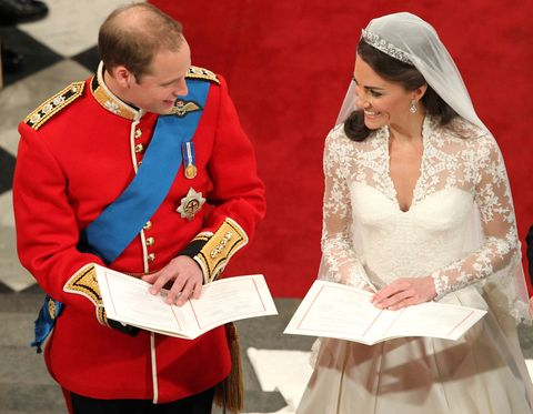 royal wedding takes place inside westminster abbey