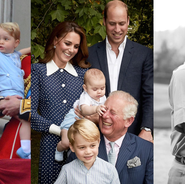 prince charles with his grandchildren