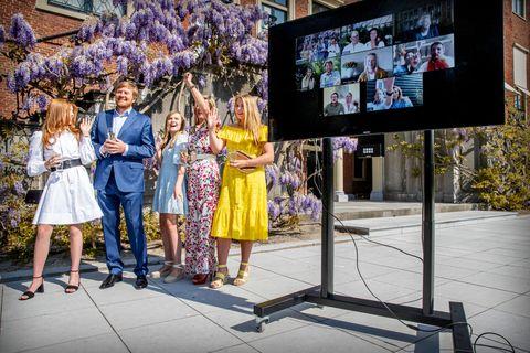 dutch royal family celebrates kingsday at home