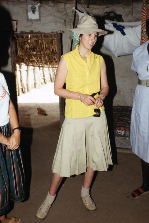 Princess Anne in Gambia working as a patron for Save the Chi