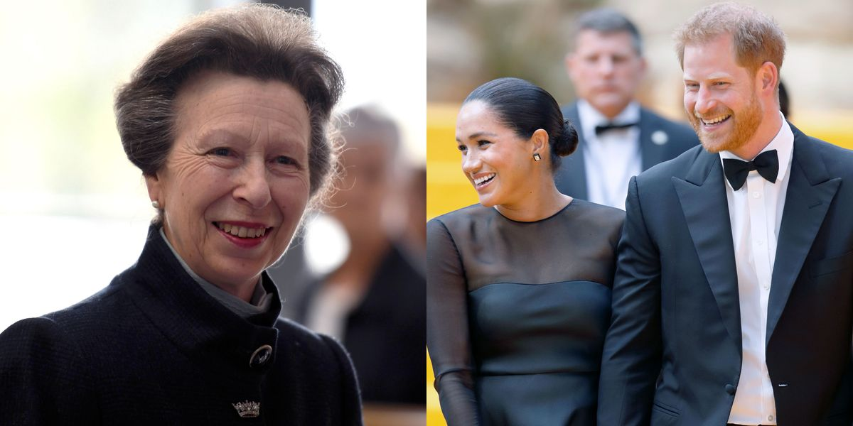 """Princess Anne Thinks Harry and Meghan's Royal Exit Was """"The Right Thing to Do"""" - Yahoo Lifestyle"""