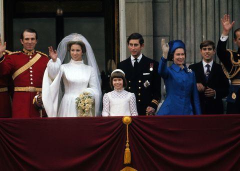 アン王女の結婚式に出席したエリザベス女王