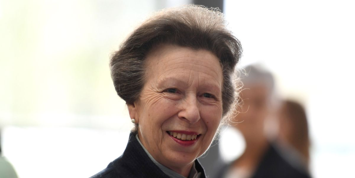 Princess Anne looks smart in red as she visits important projects in Somerset